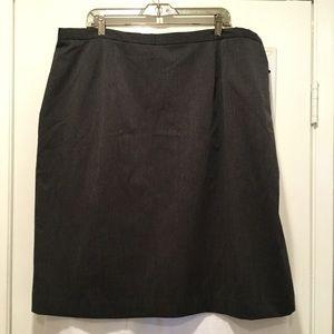 Harve Bernard Gray Pencil Skirt Size 24W